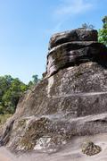 High stone tower - stock photo
