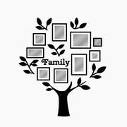Memories tree with frames - stock illustration