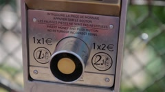 FRANCE, PARIS Instruction to use binoculars for view and scenery, Montmartre Stock Footage