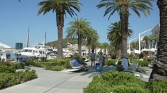The promenade of Split, Croatia Stock Footage