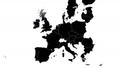 Brexit - animated map showing the EU map erasing the UK after the referendum. - stock footage
