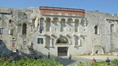 The Golden Gate of Diocletian's Palace in Split, Croatia Stock Footage
