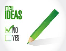 No Fresh Ideas approval sign concept Stock Illustration
