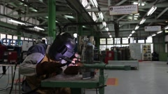 Metal Inert Gas Welding Stock Footage