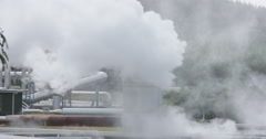 Wairakei geothermal power station, taupo, New Zealand Stock Footage