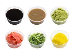 Japanese condiment for sushi - stock photo