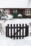 A building in Ahrenshoop (Germany) in winter time Stock Photos