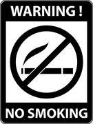 No smoking, cigarette prohibited symbol. Vector. - stock illustration