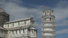Leaning tower, zoom wide, Pisa, Italy Stock Footage
