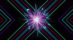 Pulsing Neon Flower - stock footage