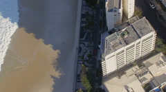 Flying above Ipanema Beach buildings, Rio De Janeiro, Brazil Stock Footage