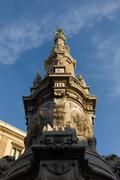 Obelisk, detail , Naples., Italy - stock photo