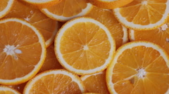 Plenty of orange slices Stock Footage