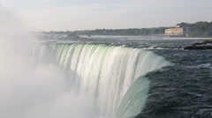 Niagara Falls and the Canadian Power Plant Stock Footage