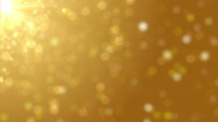 Gold Particles Blur Bokeh Stock Footage