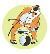 Afro-American jazz-man Stock Illustration