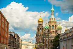 Church of the Savior on Blood in Saint-Petersburg, Russia - stock photo
