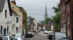 Salisbury: Medieval city in England Stock Footage