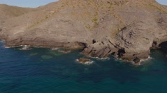 Aerial nature landscape  mediterranean sea coast Spain. Stock Footage