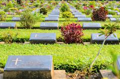 Kanchanaburi War Cemetery (Don Rak) Stock Photos