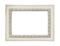 White classic painting canvas frame Stock Photos