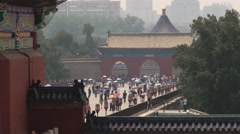 Tourists visit temple of Heaven in Beijing, China. Stock Footage