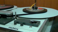 Old tape recorder  REVOX  PR99 Stock Footage