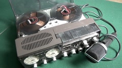 Old tape recorder  UHER  4200 Stock Footage