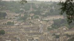 Bath - birds eye view: high street, England Stock Footage