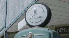 Old Fashion Gas Pump Tilt Down - stock footage