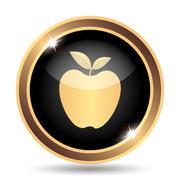 Apple icon. Internet button on white background.. - stock illustration