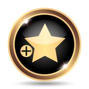 Add to favorites icon. Internet button on white background.. - stock illustration