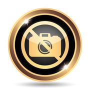 Forbidden camera icon. Internet button on white background.. Stock Illustration