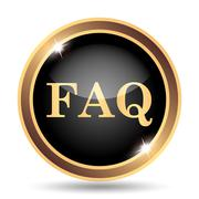 FAQ icon. Internet button on white background.. - stock illustration
