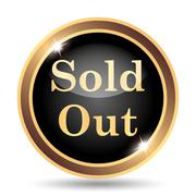 Sold out icon. Internet button on white background.. - stock illustration
