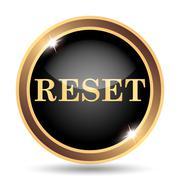 Reset icon. Internet button on white background.. - stock illustration