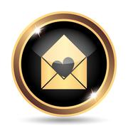 Send love icon. Internet button on white background.. Stock Illustration