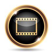 Photo icon. Internet button on white background.. Stock Illustration