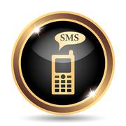 SMS icon. Internet button on white background.. Stock Illustration