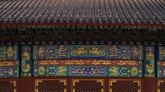 Exterior of the temple of Heaven in Beijing, China. Stock Footage