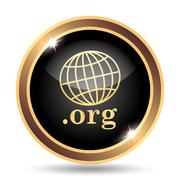 .org icon. Internet button on white background.. - stock illustration