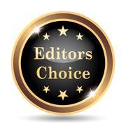 Editors choice icon. Internet button on white background.. Stock Illustration