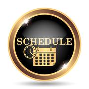 Schedule icon. Internet button on white background.. - stock illustration
