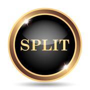 Split icon. Internet button on white background.. - stock illustration