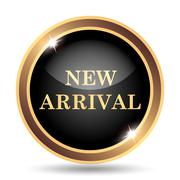 New arrival icon. Internet button on white background.. - stock illustration