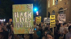 Black Lives Matter protest shuts-down Washington, DC Stock Footage
