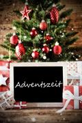 Christmas Tree With Adventszeit Means Advent Season Stock Photos