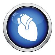 Human heart icon Stock Illustration