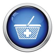 Pharmacy shopping cart icon Stock Illustration