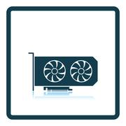 GPU icon - stock illustration